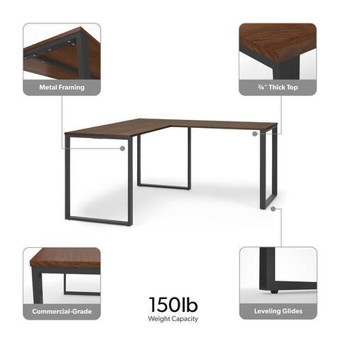 "HON Basyx 59"" L-Shape Corner Computer Desk (BSXLMOL)"