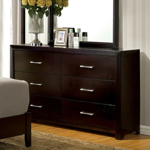 Furniture of America Hoss Contemporary Espresso 6-drawer Dresser
