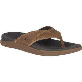 Sperry Top-Sider Men's Regatta Thong Sandal Brown Full Grain Leather