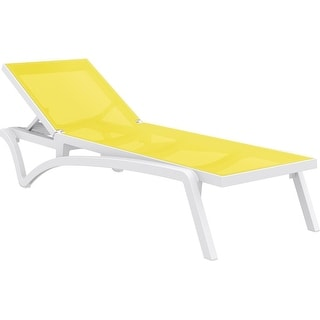 Compamia Pacific Sling Chaise Lounge Set of 2, Yellow