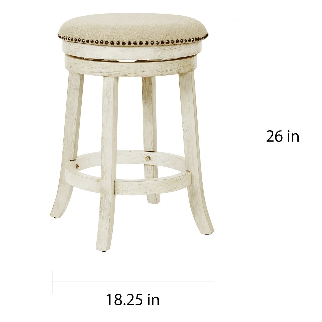 Shop Osp Home Furnishings Metro 26 Inch Backless Swivel Stools 2 Pack On Sale Overstock 21827826