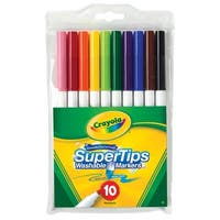 Crayola Non-Toxic Washable Marker Set, Super Tip, Assorted Colors, Set of 10