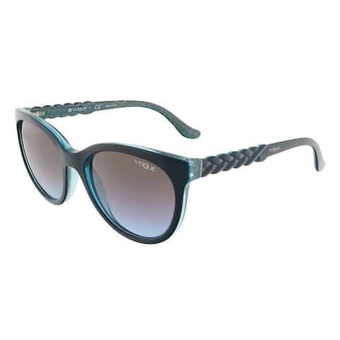 Vogue VO2915S 226048 Petroleum Green Glitter Round sunglasses - 53-19-145