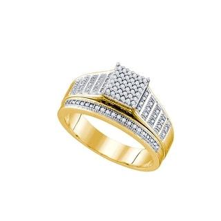 1/4Ct Diamond Bridal Engagement Ring 10K Yellow-Gold