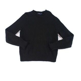 Polo Ralph Lauren NEW Black Mens Medium M 1/2 Zip Multi-Knit Sweater