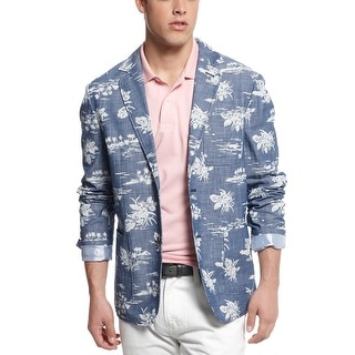 Tommy Hilfiger Batik Island Sportcoat XX-Large Faded Blue Cotton 2-Buttons