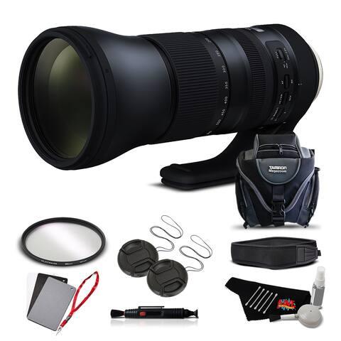 Tamron SP 150-600mm f/5-6.3 Di VC USD G2 for Canon EF International Version (No Warranty) Advanced Kit - Black