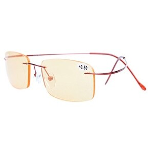 Eyekepper Titanium Rimless Computer Glasses Readers Women Red+1.50
