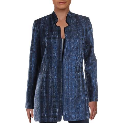 Elie Tahari Womens Macklaine Blazer Metallic Suit Separate