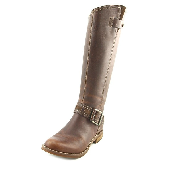 Timberland Davin Hill Tall Women Round Toe Leather Brown Knee High Boot