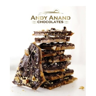 Link to Andy Anand Dark Chocolate English Toffee with Nuts Box 1 lbs Similar Items in Gourmet Food Baskets