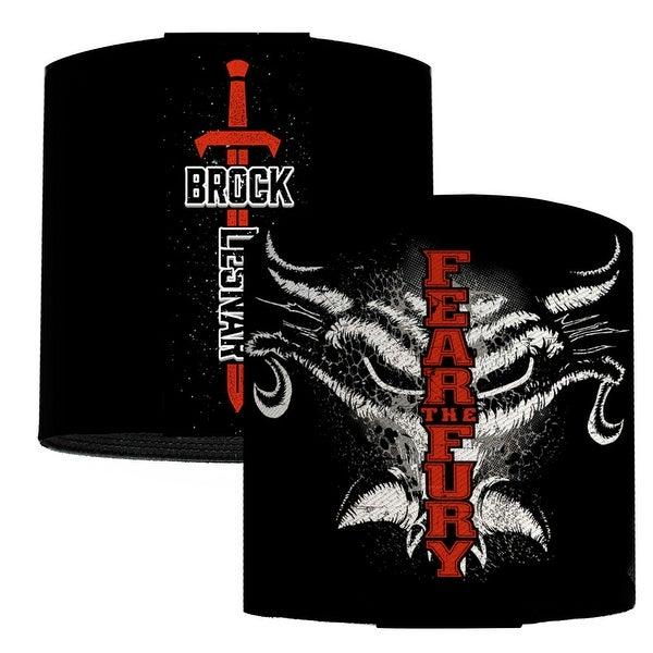 Brock Lesnar Fear The Fury Skull Black Gray White Red Elastic Wrist Cuff