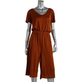 Zara W&B Collection Womens Cut-Out Cropped Jumpsuit - M