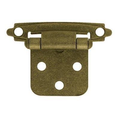 "Liberty Hardware H0103BL-AB-U Self-Closing Overlay Hinge 3/8"", Antique Brass"