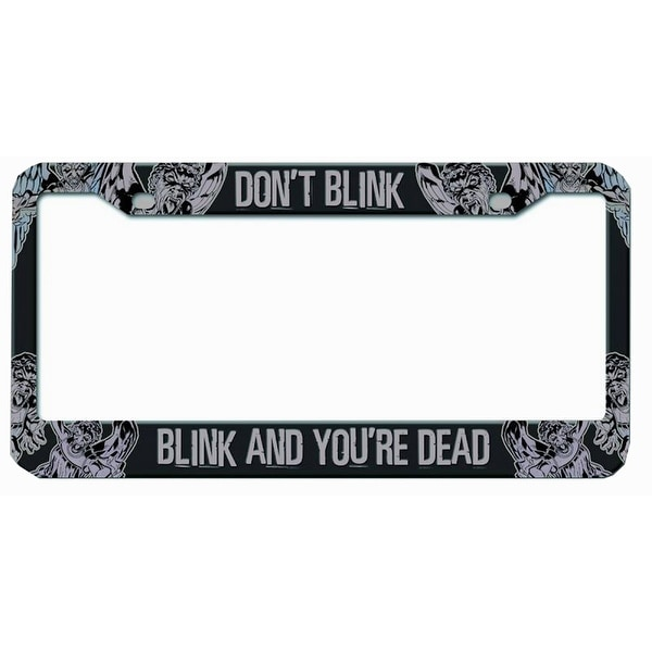 "Doctor Who Licence Plate Frame ""Don't Blink Blink And You Are Dead"" - multi"