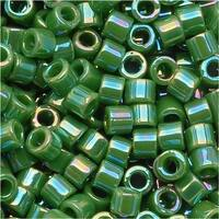 Miyuki Delica Seed Beads 10/0 Opaque Green AB DBM0163 8 GR