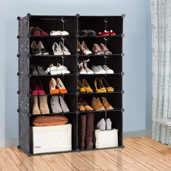 Shop Langria 12 Cube Diy Shoe Rack Modular Organizer Plastic