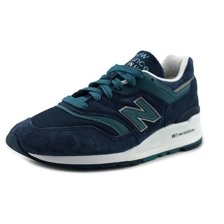 New Balance M997 Men  Round Toe Suede Blue Sneakers