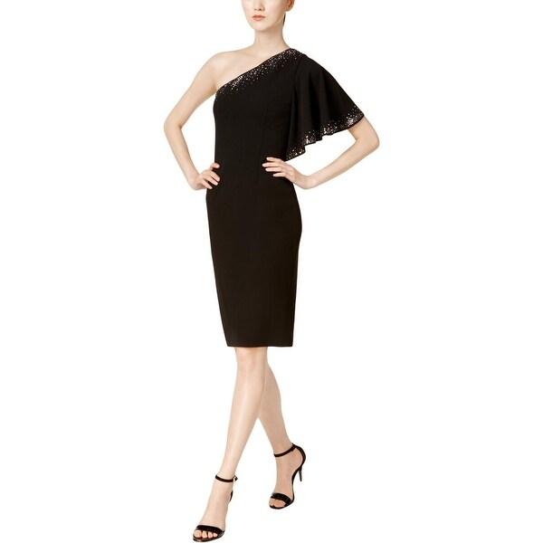 09091f7f949a Shop Calvin Klein Womens Petites Cocktail Dress Party One Shoulder ...