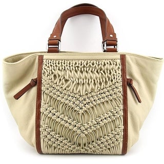 Nanette Lepore 52282 Women Leather Tote NWT - Ivory