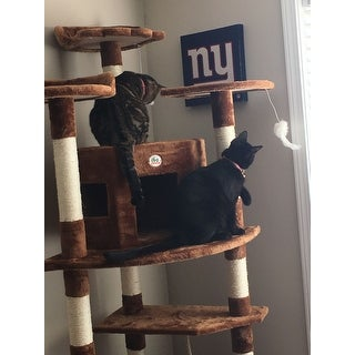 Go Pet Club Brown 80-inch Tall Cat Tree Furniture
