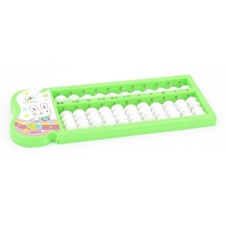 Unique Bargains Plastic Cartoon Pattern Abacus Soroban Learning Toy Beads Students Stationery Grass Green w 11 Rows