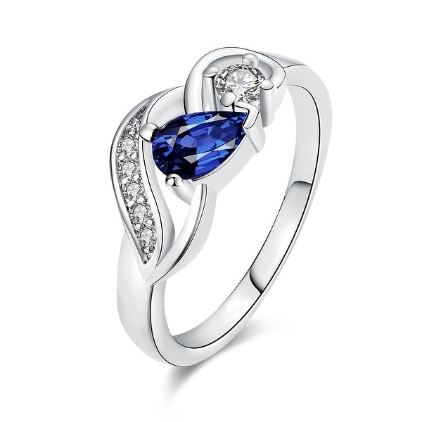 Petite Saphire Gem White Gold Ring