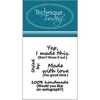 """Made W/Love - Technique Tuesday Clear Stamps 2""""X2.5"""""""