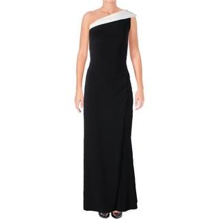 Lauren Ralph Lauren Womens Turianna Evening Dress Two-Tone Front Slit