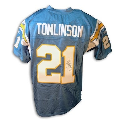 best website 92c16 72f6f Autographed LaDainian Tomlinson San Diego Chargers Powder Blue Reebok  Authentic Jersey