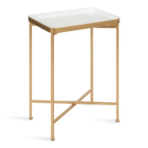 Kate and Laurel Celia Metal Tray Accent Table