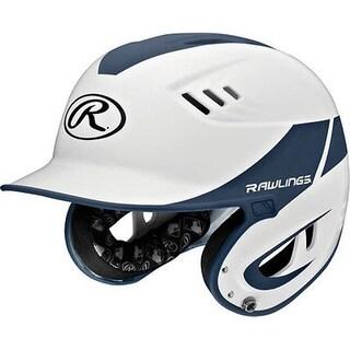 Rawlings Senior Two Tone Batting Helmet, White & Matte Navy