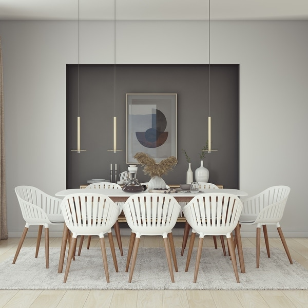 Midtown Concept Nordic 9 Piece Dining Set - White Cushions. Opens flyout.