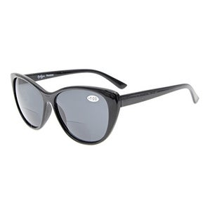 Eyekepper Cat-eye Style Womens Bifocal Sunglasses Grey Lens +2.5
