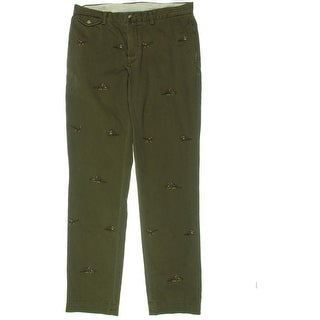 Polo Ralph Lauren Mens Straight Fit Embroidered Chino Pants