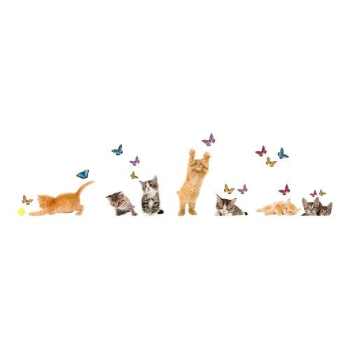 Brewster CR-64001 Playful Cats And Butterflies Window Decal - n/a