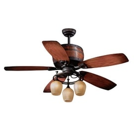 "Vaxcel Lighting FN52455 Cabernet 52"" 5 Blade Indoor Ceiling Fan - Light Kit and Fan Blades Included"