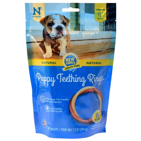 N-Bone Grain Free Puppy Teething Rings - Chicken Flavor - 6 Count