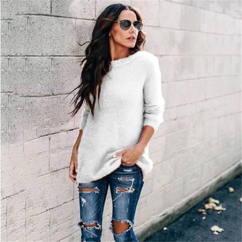 Knitwear Stitching Pullover Sweater Women