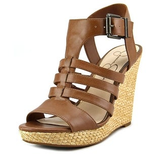 Jessica Simpson Jhane   Open Toe Leather  Wedge Sandal