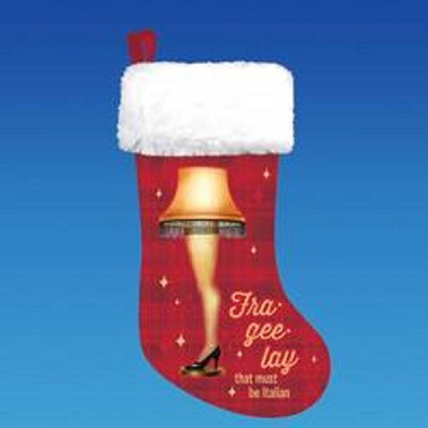 A Christmas Story Red and White Leg Lamp Printed Christmas Stocking 19""