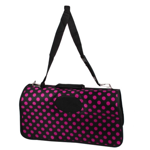 Durable Dot Printed Pet Dog Cat Carrier Bag Size S