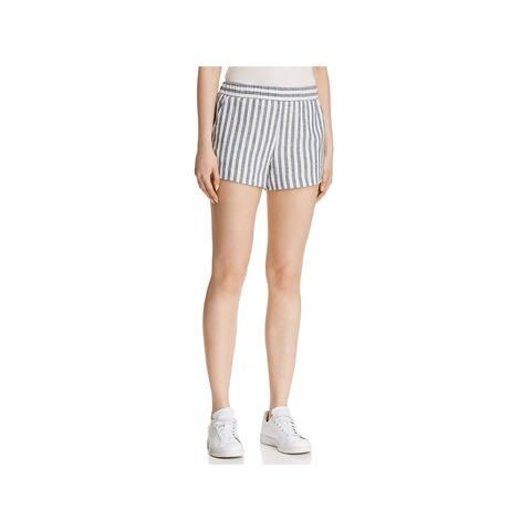 Splendid Womens Casual Shorts Linen Blend Striped