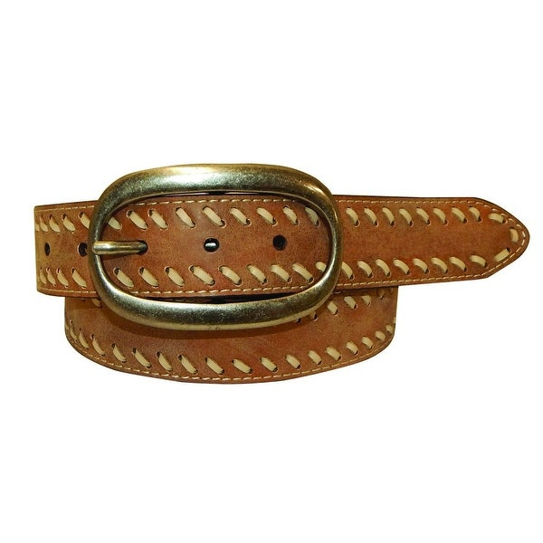 Cowgirls Rock Western Belt Womens Leather Lacing Brown