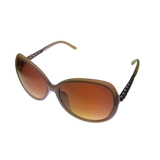 Esprit Womens Fashion Taupe Oversized Rectangle Plastic Sunglass ET19454 565