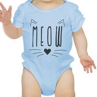Meow Infant Bodysuit Gift Sky Blue