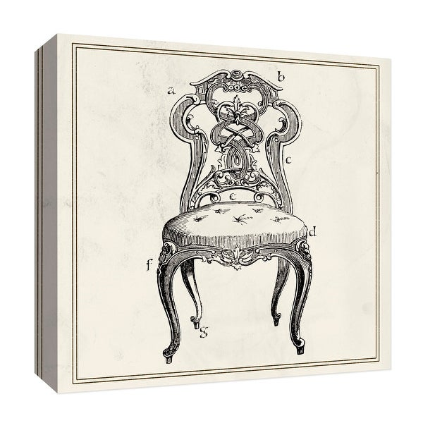 "PTM Images 9-126835 PTM Canvas Collection 12"" x 12"" - ""Antique Chair"" Giclee Letters Art Print on Canvas"