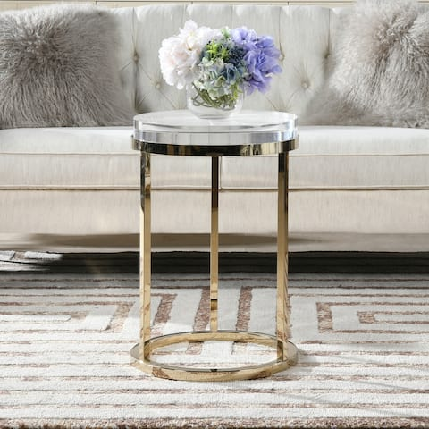 Dendros Live Edge Mimic Round Side Table by Jennifer Taylor Home