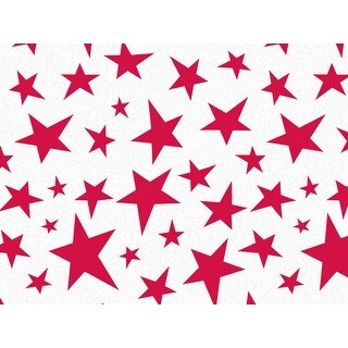 """Pack Of 240, Holiday Star Recycled Christmas Printed Tissue Paper 20"""" X 30"""" Sheets Made In Usa"""