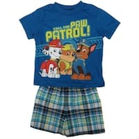 Nickelodeon Little Boys Royal Blue Paw Patrol T-Shirt 2 Pc Shorts Set